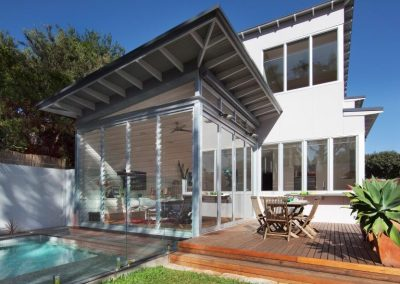 Breezway louvres can be installed next to pool areas and still comply with safety regulations