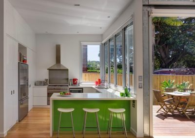 Kitchen area in coogee house with Aneeta Windows