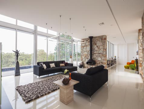 Living space of Bundaroo house