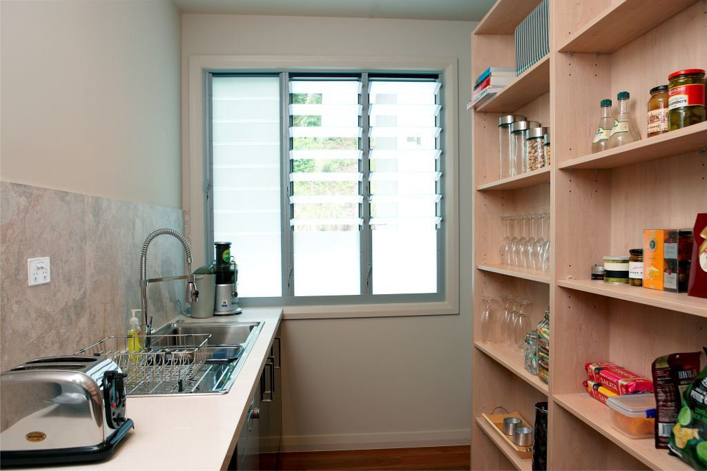 Breezway louvres in the pantry