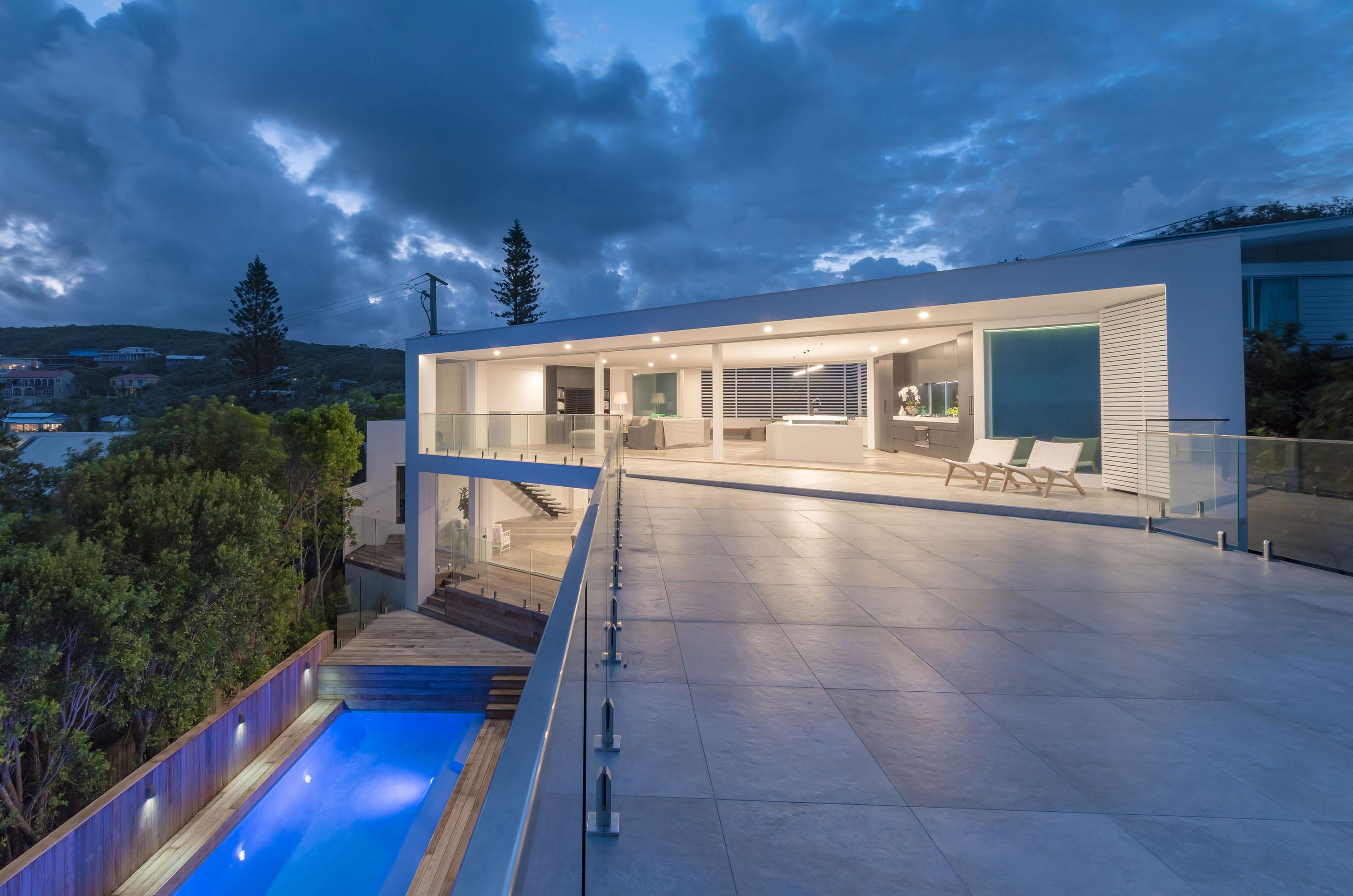 Open plan living area makes the most of outdoor views