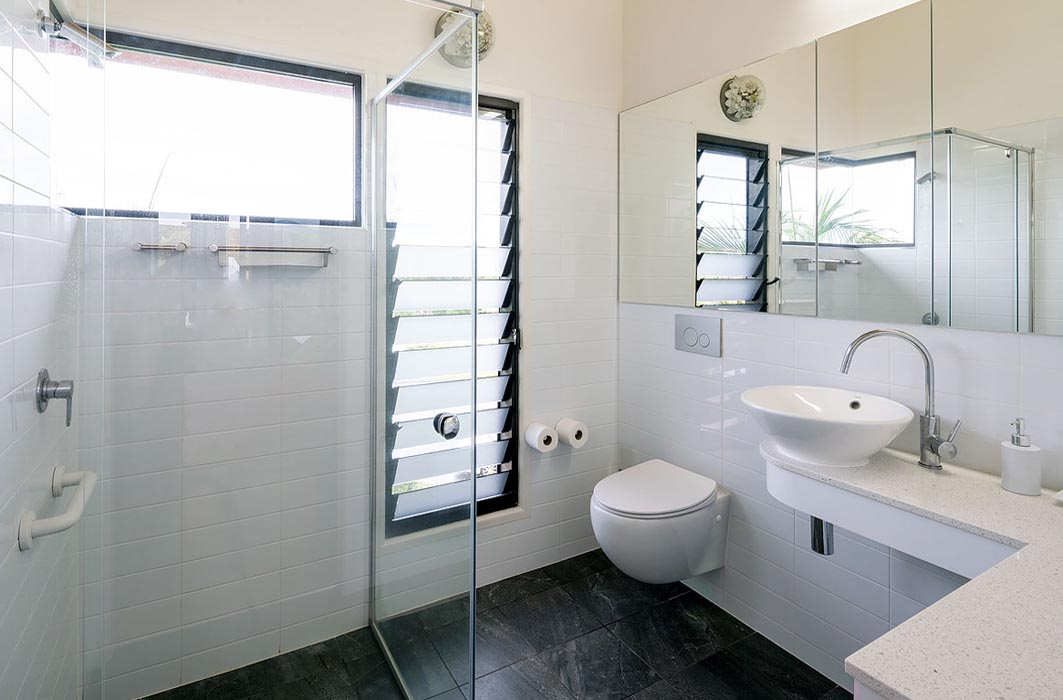 Ventilate bathrooms with Breezway Louvre Windows