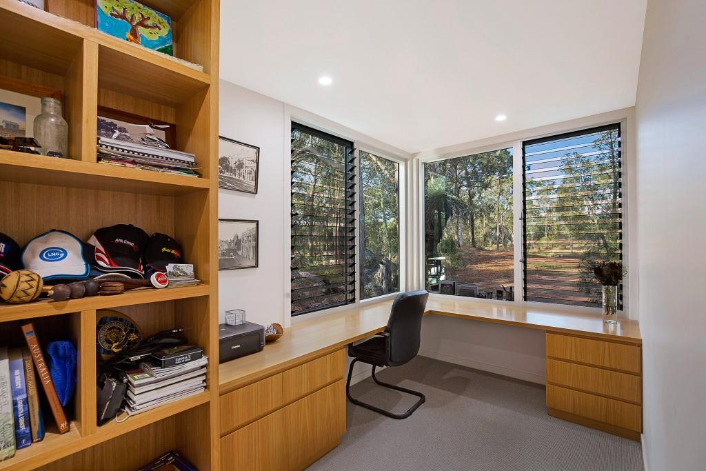 Study rooms with Breezway louvres provide a view and natural ventilation