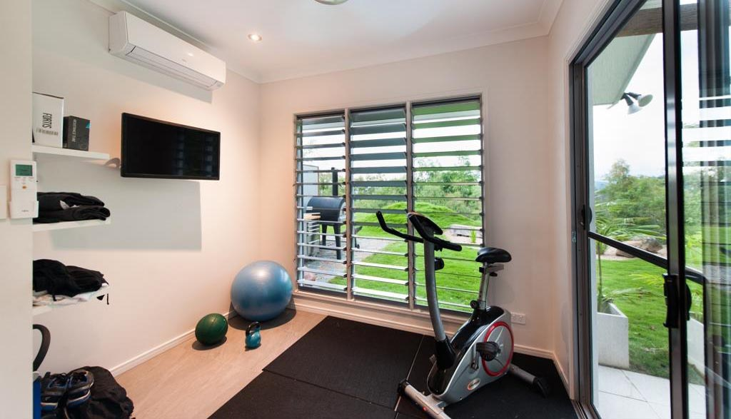 Gym in the main pavilion showcases Breezway louvres