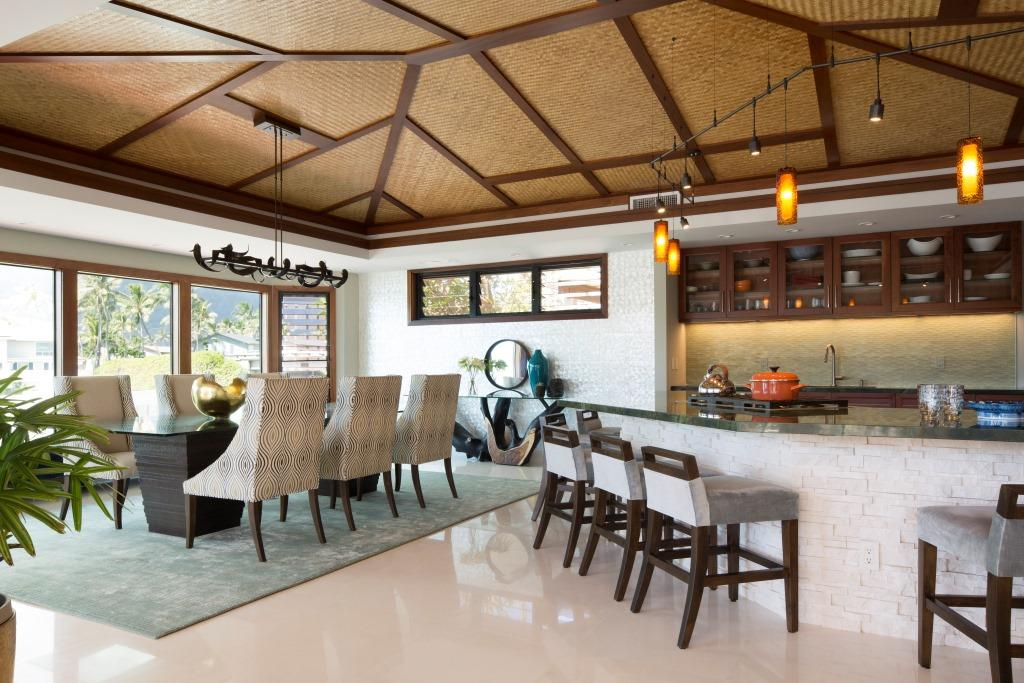 Living area of hawaii kai hideout using breezway louvres