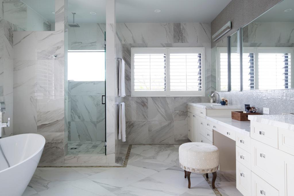 Use breezway louvres in bathrooms to keep them steam free
