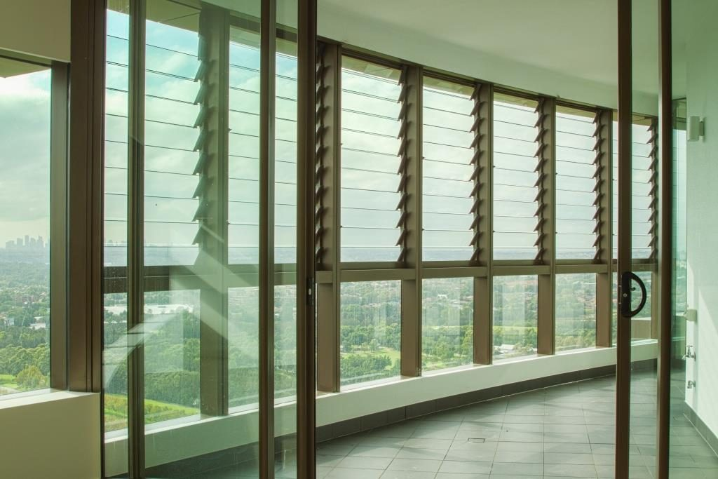 Breezway Louvres in High Rise Apartments Australia Towers