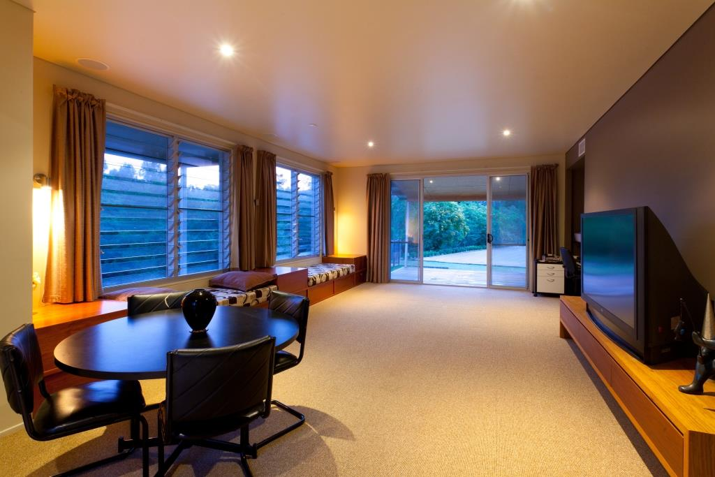 Seperate living area with Breezway louvres for fresh air