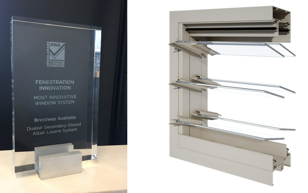 Breezway Wins Most Innovative Window System Design Award for 2018