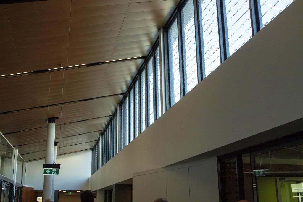 Breezway Powerlouvres up high can be automatically controlled through a BMS