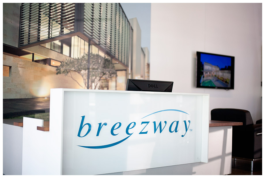 Showroom reception for Breezway