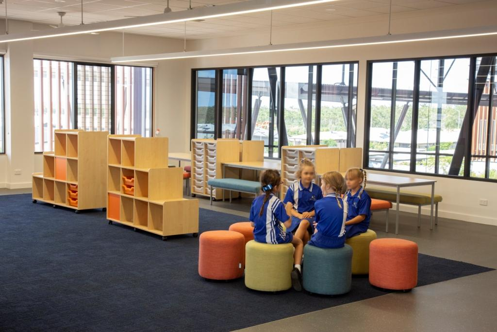 Children play in naturally lit classrooms with Breezway Louvre Windows