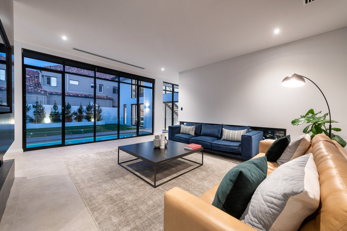 Living spaces with uninterrupted outdoor views through Breezway Louvres with clear glass blades