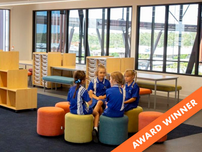 Learning Areas that flow seamlessly between outside and inside