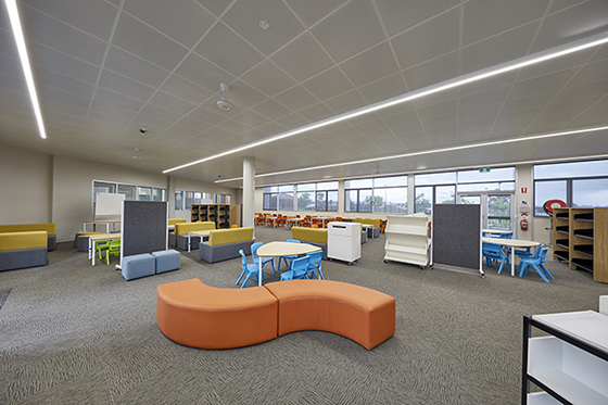 Classroom interior with Breezway Louvres - image supplied by School Infrastructure NSW