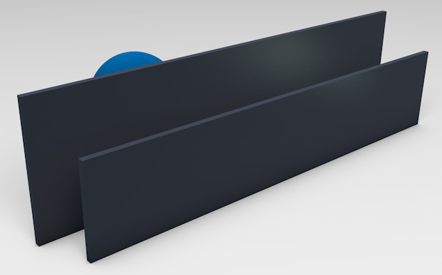 <strong>Powder Coated Aluminium*</strong><p>Provides privacy with ventilation.  (Deep Ocean Matt finish displayed).</p>