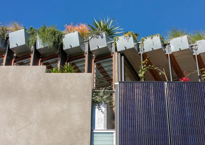 Solar panel facade and roof of the Jungle House