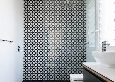 Breezway Louvres with frosted blades are ideal for bathroom applications