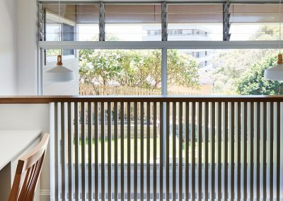 Multiple bays of Breezway Louvres allow ventilation and clear outdoor views to be enjoyed