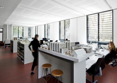 Studio Level with Breezway Louvres reduce the need for artificial lighting