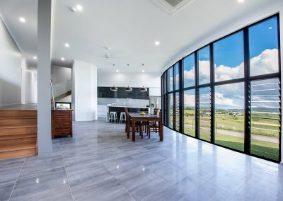 Breezway Louvre Windows in the Residential Curved Abode