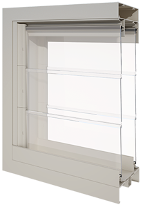 Dualair 2 x Powerlouvre Galleries closed in the Alspec McArthur Frame_Section