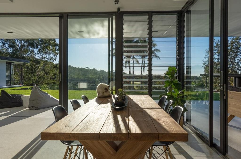 Doonan Glasshouse Maximises Cross Flow Ventilation with Breezway Louvre Windows
